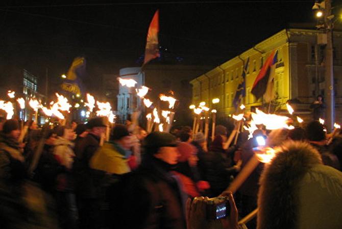 факельный марш бандера