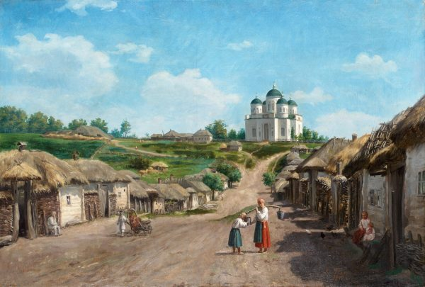 Платонов Харитон «Сельский пейзаж с церковью»