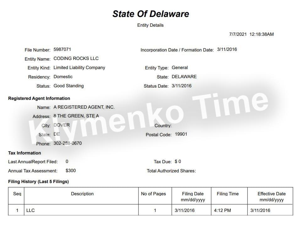 Подтверждено: лидер «Голоса» Кира Рудык имеет оффшорную компанию в США и, вполне вероятно, американское гражданство. ЭКСКЛЮЗИВ фото 2